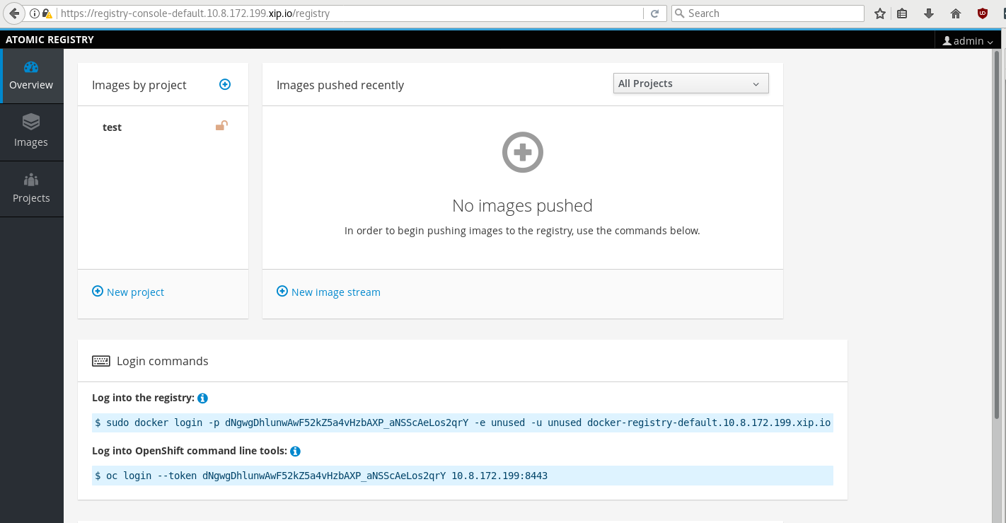 Deploying an OpenShift Origin Stand-alone Registry on Fedora 25